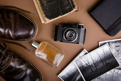 Set of vintage accessories Royalty Free Stock Photography
