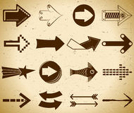 Set of vintage arrows Royalty Free Stock Photos