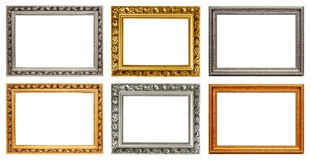 Set of vintage art frames Stock Image