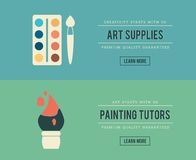Set of vintage art related banners Royalty Free Stock Photography