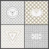 Set of Vintage Artdeco Cards. For Invitation, Baby Shower, Wedding- in vector Stock Photos