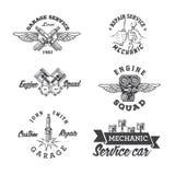 Set of vintage auto service labels royalty free illustration