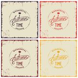 Set of vintage autumn card Royalty Free Stock Photography