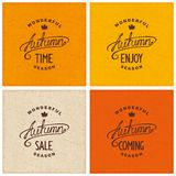Set of vintage autumn designs Stock Photo