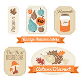 Set of vintage autumn fall labels, tags, stickers, Royalty Free Stock Photos