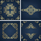 Set of vintage backgrounds with Royalty Free Stock Image