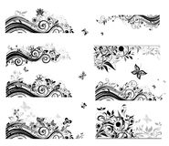 Set of vintage backgrounds (black and white) Royalty Free Stock Images