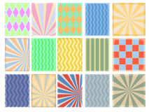 Set of vintage backgrounds Royalty Free Stock Images