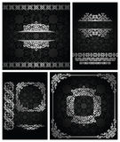 Set of vintage backgrounds. With frames and borders. Seamless background Stock Images