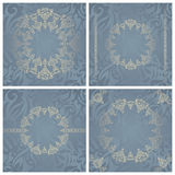 Set of vintage backgrounds Royalty Free Stock Photography