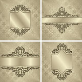Set of vintage backgrounds with frames Royalty Free Stock Photography