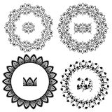 Set of Vintage backgrounds, Guilloche ornamental circle Elements Royalty Free Stock Image
