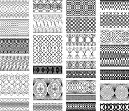 Set of Vintage backgrounds, Guilloche ornamental E Stock Photos