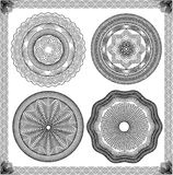 Set of Vintage backgrounds, Guilloche ornamental E Royalty Free Stock Images