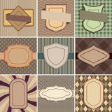 Set of vintage backgrounds with place for text. Stock Images