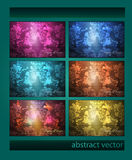 Set of vintage backgrounds. Stock Photography