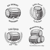 Set of vintage badge for beer house Royalty Free Stock Photography