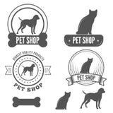 Set of vintage badge, emblem and label elements Stock Image