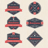 Set of vintage badges, banners, label, ribbon and logo template vector for business and shop Stock Photos