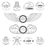 Set of vintage badges car club and garage Royalty Free Stock Image