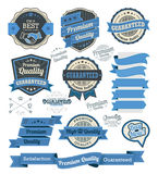 Set of vintage badges and design elements royalty free illustration