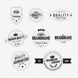 Set of Vintage Badges Royalty Free Stock Photography