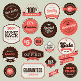 Set of vintage badges and labels. For sale Royalty Free Stock Image
