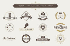 Set of vintage badges and labels. vector illustration