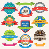 Set of vintage badges and labels Royalty Free Stock Photo