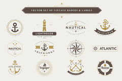 Set of vintage badges and labels. Royalty Free Stock Photography