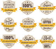 Set of vintage badges and labels Royalty Free Stock Photos