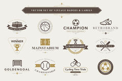 Set of vintage badges and labels. Royalty Free Stock Images
