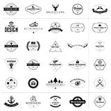 Set of vintage badges and labels Stock Photos