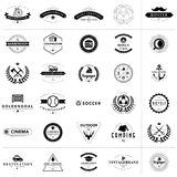 Set of vintage badges and labels Royalty Free Stock Images