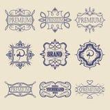 Set of vintage badges. Logo templates. Design elements. Vector illustration Stock Photos