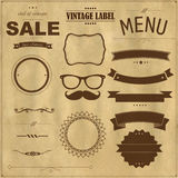 Set Of Vintage Badges With Paper Background royalty free stock photos