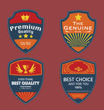 Set of Vintage Badges Vector Royalty Free Stock Photos
