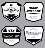 Set of Vintage Badges Vector Stock Photos
