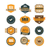 Set of vintage badges. Vintage premium quality labels. Vector Royalty Free Stock Image