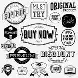 Set of vintage bagdes stock illustration