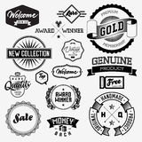 Set of vintage bagdes Royalty Free Stock Photography