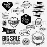 Set of vintage bagdes Royalty Free Stock Image