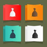 Set of vintage bags for storage eps Royalty Free Stock Photo