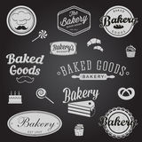 Set of vintage bakery badges and labels Royalty Free Stock Photos