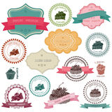 Set of vintage bakery badges Stock Photos