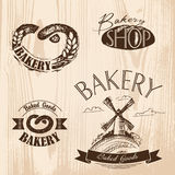 Set of vintage bakery labels, badges and design elements. Stock Photography