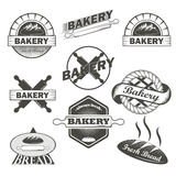 Set of vintage bakery labels and design elements Royalty Free Stock Image