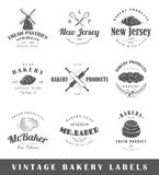 Set of vintage bakery labels Stock Photos