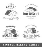 Set of vintage bakery labels Stock Images
