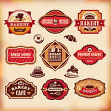 Set of vintage bakery labels Royalty Free Stock Image
